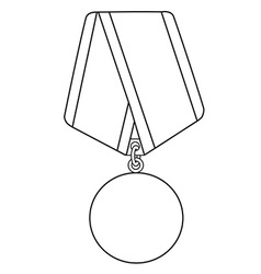 Medal outline drawing vector image