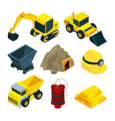 mining minerals and gold vector image