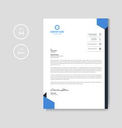 modern blue letterhead background vector image