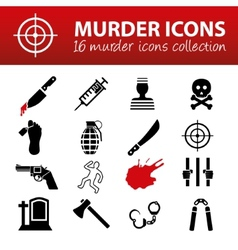 Murder icons vector