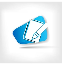 Notepad web icon vector image