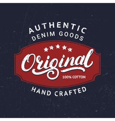 Original hand written lettering for label badge vector