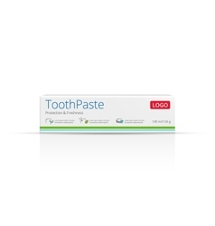 Packaging design toothpaste vector image