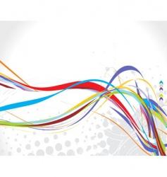Rainbow wave background vector