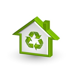 Recycle house icon vector image