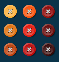 red pin button pin button set collection of vector image