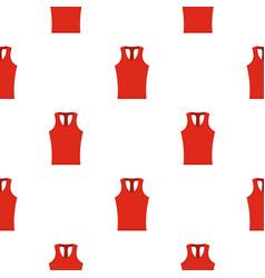 Red sleeveless shirt pattern seamless vector