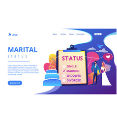 relationship status concept landing page vector image