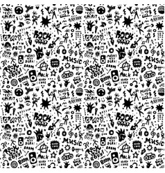 Rock music party - seamless pattern graphic vector