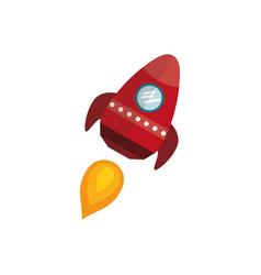 rocket spaceship cartoon vector image