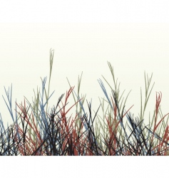 rough grass vector image