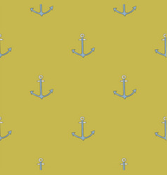 seamless pattern black anchor background vector image
