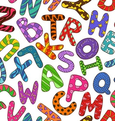 Seamless Pattern With Colorful Children Alphabet vector