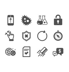 Set technology icons such as touchscreen vector