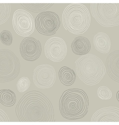 Stylized wooden spirals hand drawn seamless vector image