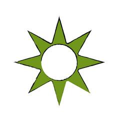 sun energy symbol vector image