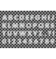 The Glass Alphabet vector image