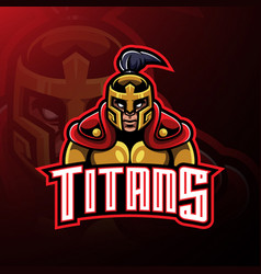 titans warrior mascot logo design vector image