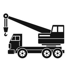 Truck crane icon simple vector