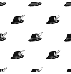 Tyrolean hat icon in black style isolated on white vector