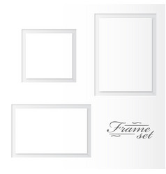 unusual blank frames set on white background vector image