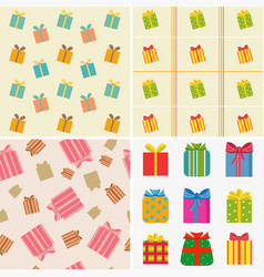 various colorful gifts vector image