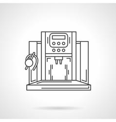 Vending coffee machine flat line icon vector