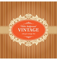 Vintage Background Frame Template vector image