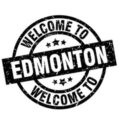 welcome to edmonton black stamp vector image