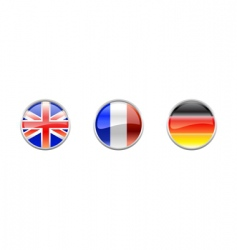 world flags buttons vector image