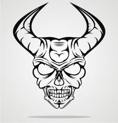 Demon Head vector image vector image