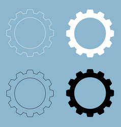 gear the black and white color icon vector image vector image