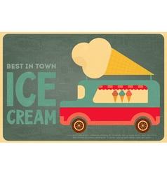 ice cream bus vector image vector image