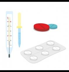 medical supplies vector image vector image