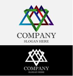 mountain studio abstract logo vector image