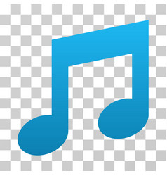 Music notes gradient icon vector