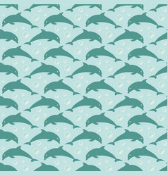 pattern with jumping dolphins vector image vector image