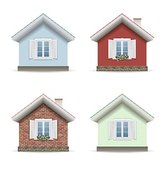 Set building facades vector image