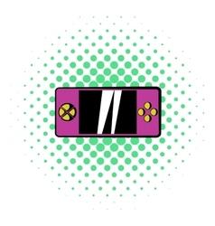 Smartphone icon comics style vector image vector image