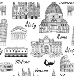 travel europe background italy famous landmark vector image