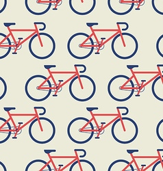 Bicycle seamless background vector image