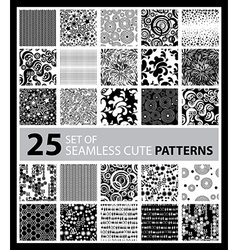 big seamless set 4 vector image vector image