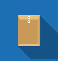 brown envelope craft paper with rope icon vector image