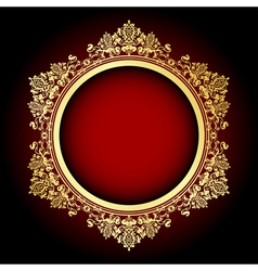 gold and red frame vector image vector image