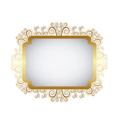 gold metal emblem icon vector image