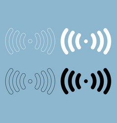 radio signal the black and white color icon vector image vector image