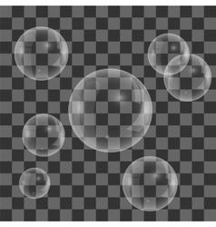 Set of Transparent Soap Water Bubbles vector image