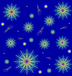 Snowflakes on a blue background Winter background vector image