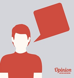 opinio desing vector image