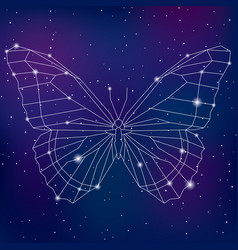 abstract geometric polygonal cosmic butterfly vector image vector image